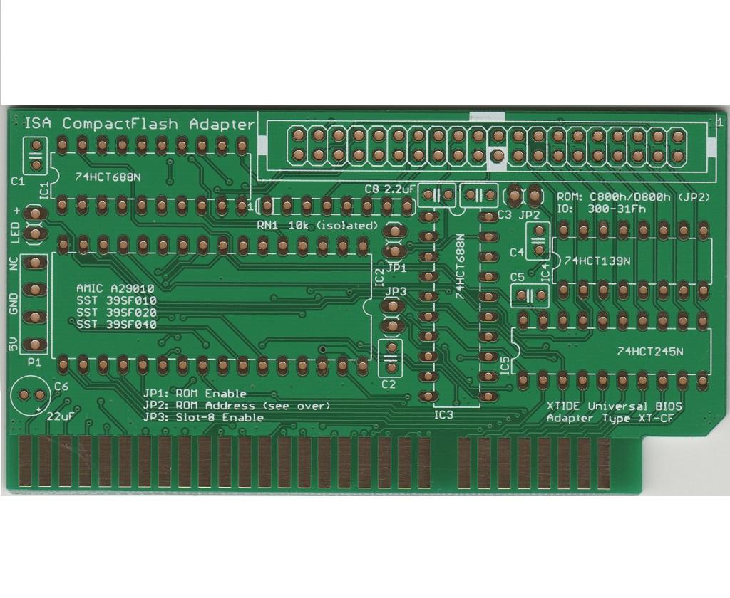 ISA CompactFlash PCB