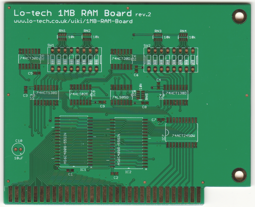 Lo Tech 1mb Ram Board Pcb Circuit Assembly Buy Boardpcb Pc R02