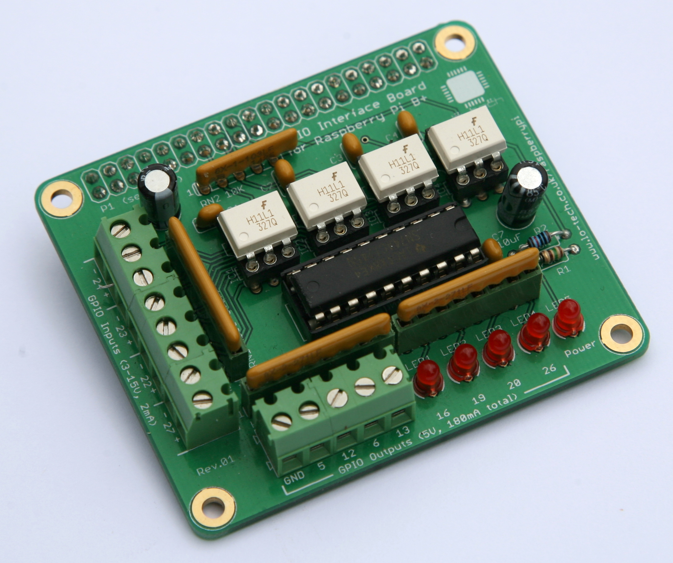Lo-tech-gpio-interface-board-front-assembled
