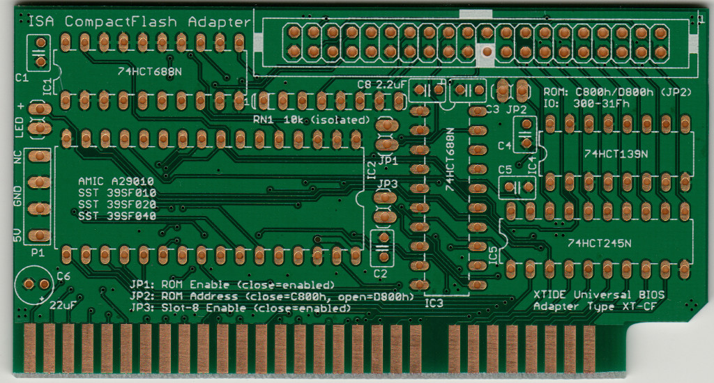 lo-tech » Best Ever ISA CompactFlash PCB
