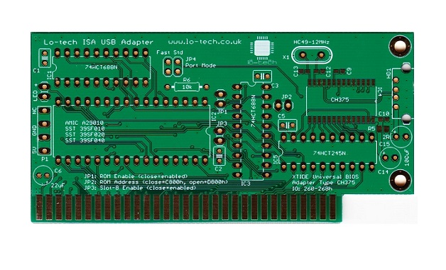New! Lo-tech ISA USB PCB