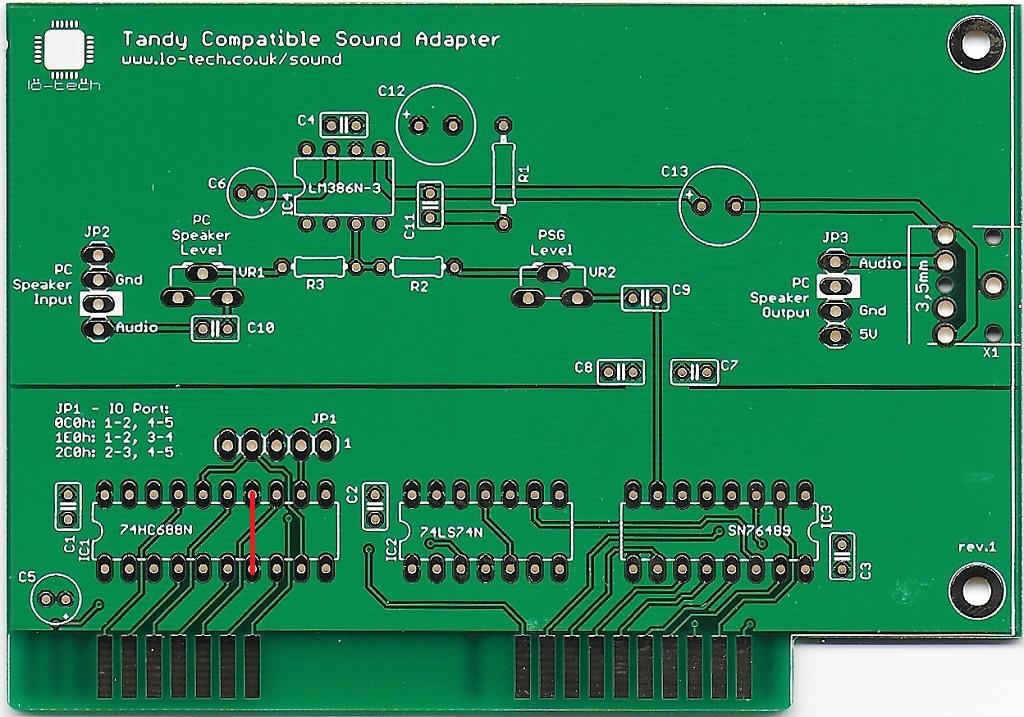 Lo Tech Tandy Sound Sn76489 Adapter Pcb